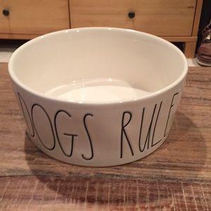 "Rae Dunn ""Dogs Rule"" dish"